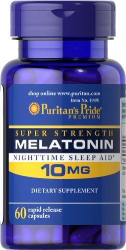 Fierté de mélatonine 10 mg-60 Capsules de puritains