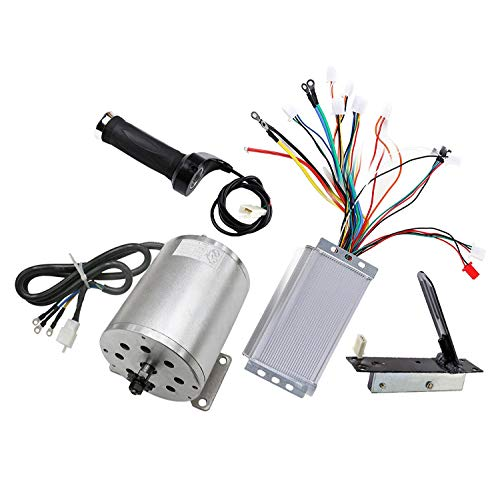 ZXTDR 48V 1800W Brushless Motor & Controller & Throttle Grip & Accelerator Pedal Set For Electric Scooter Go Kart Bicycle e-Bike Tricycle Moped