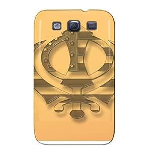 Durable Orange Protective Hard Case For Sumsang Galaxy S3 Sepia Khanda