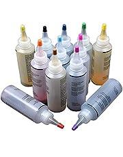 Tie Dye Kit, 12 stks Niet giftig Een Stap Textiel Verven Kleding Graffiti Accessoires Permanent Pigment Kleurrijke Spiraal Jacquard DIY Stof Ambacht