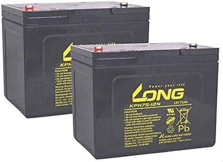 Batería compatible con Invacare G50 2 x 12 V 75Ah 24 V de plomo AGM Scooter E reducida