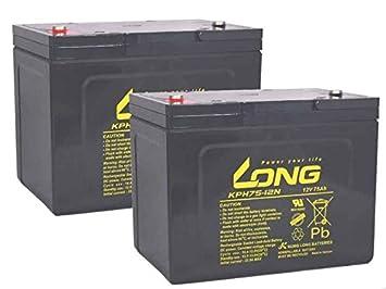 Kompatibler Accu Rasenm/äher Robomow RL2000 RL-2000 24V 2x 12V Ersatz Batterie