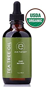 USDA Certified Organic Tea Tree Oil - Pure Tea Tree Essential Oil - Use as a Natural Antiseptic Wash, Dandruff and Lice Treatment, Acne Treatment, nail Fungus Treatment