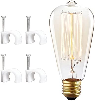 Kiven Vintage Style Double Section Wall Sconces Loft Vintage Indoor Metal Wall Lights with On Off Switch Cord Bulb Included Iron Cage