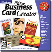 New Broderbund Printshop Business Card Creator Professionally Designed Layouts High Quality Images