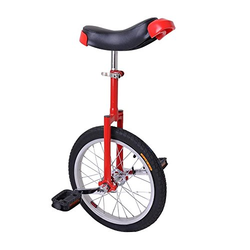 24'' Wheel Red & Black Adjustable Height Unicycle Balance Sport Mountain Tire by FDInspiration