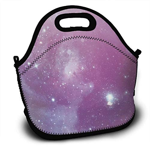 Dejup Lunch Bag Sky Stars Tote Reusable Insulated Lunchbox, Shoulder Strap with Zipper for Kids, Boys, Girls, Women and Men