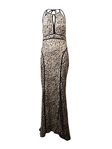 halter animal print dress - 8