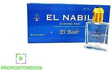 Pack de 12 Eau de Parfum el Nabil El Badr 15 ml: Amazon.es: Belleza