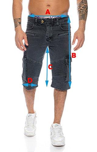 Rock Creek Herren Jeans Bermuda Hose Shorts LL-388 W30