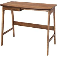 Azumaya Japan AZUMAYA Home Office Desk 27.5 inches Height Natural Walnut Wood with a Drawer TAC-243WAL