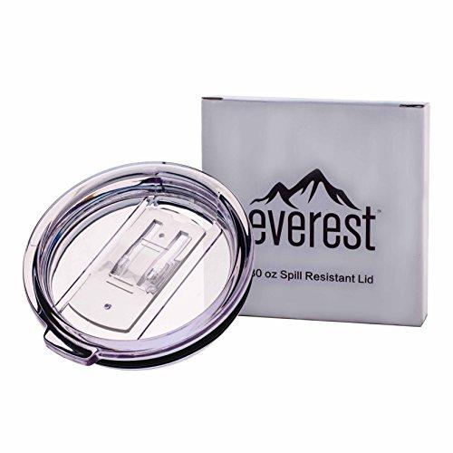 Everest 30 oz. Tumbler Lid | Tritan BPA Free Plastic Spill Splash Resistant Fits Yeti Rtic and Ozark