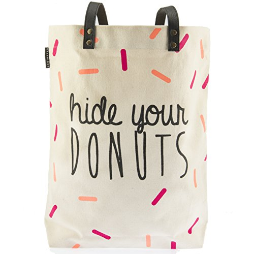 Shopper Thoughtful (Graphique Shopper Tote Bag (Hide Your Donuts))