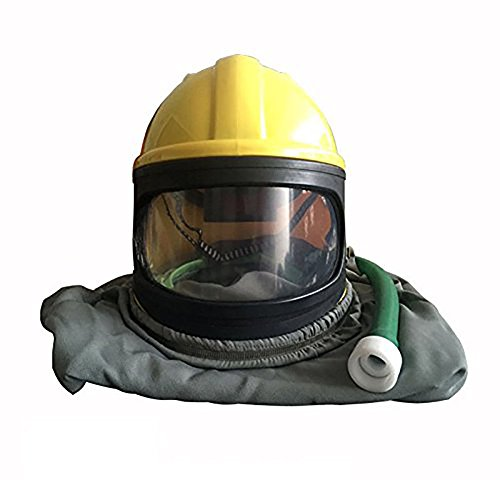AIR FED Safety Sandblast Helmet Sand Blast Hood Protector for Sandblasting by BIC