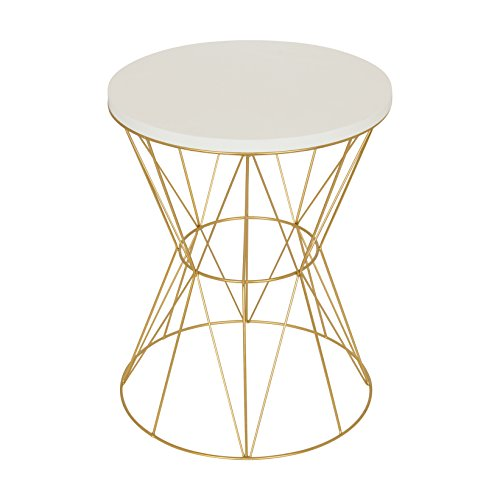 Mendel Side Table White/Gold- 1