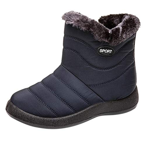 Spring Color  Women's Snow Boot Short Winter Quilted Rain Warm Waterproof Fur Lined Boots -