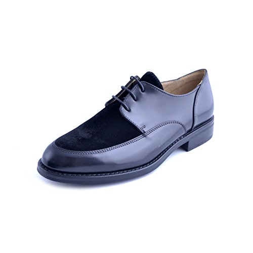 pour de Chaussures femme lacets noir ville à Soldini noir wUqAxXHH5