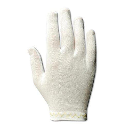 Magid Glove & Safety 5312/14 Magid Clean Master Men's and Ladies Medium Weight Stretch Nylon Gloves, White, Men's (Fits Large) (Pack of 12) by Magid Glove & Safety (Image #2)