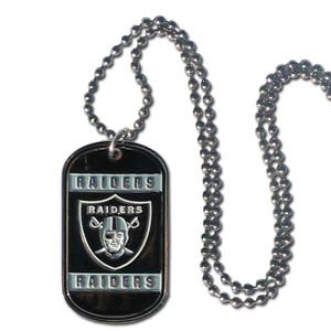 NFL Oakland Raiders Dog Tag Necklace