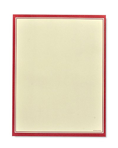 Red Border Stationery Paper - 100 Count ()