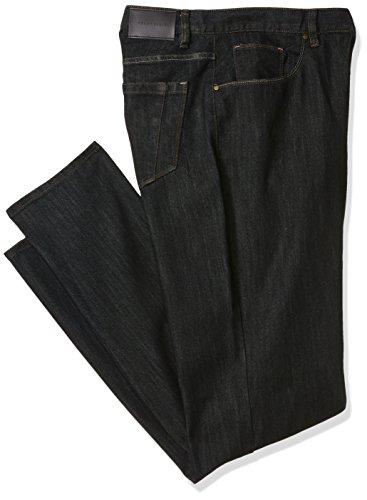 Black Rinse - Perry Ellis Men's Big and Tall Rinse with Black Tint Five Pocket Denim, Dark Indigo-4BMB9806, 48W X 30L