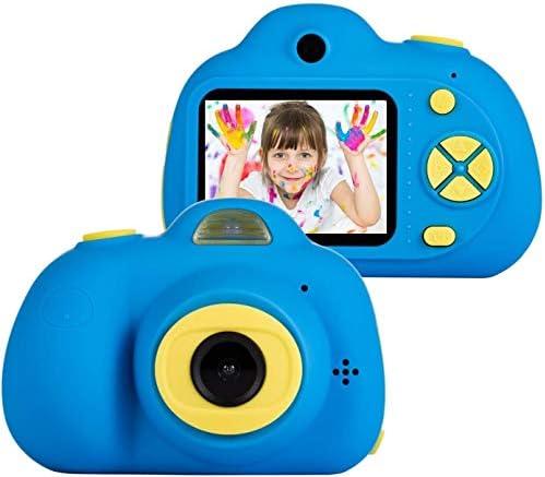 5-9歳の少年のためのキッズカメラのおもちゃ、子供男の子女の子、キッド、ダークブルーのためのコンパクトビデオカメラベスト誕生祭ギフト用耐衝撃デジタルカメラ