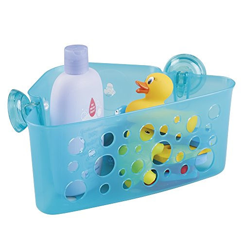 mdesign-kids-baby-bathroom-shower-suction-corner-basket-for-bath-toys-shampoo-conditioner-soap-aqua-
