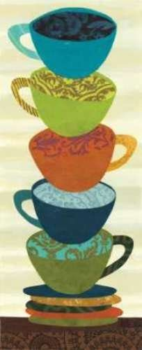 "Stacking Cups II by Jeni Lee - 10"" x 24"" Giclee Canvas Art Print"