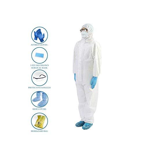 Bon Organik PPE Kit Basic Disposable Laminated Full Body Coverall
