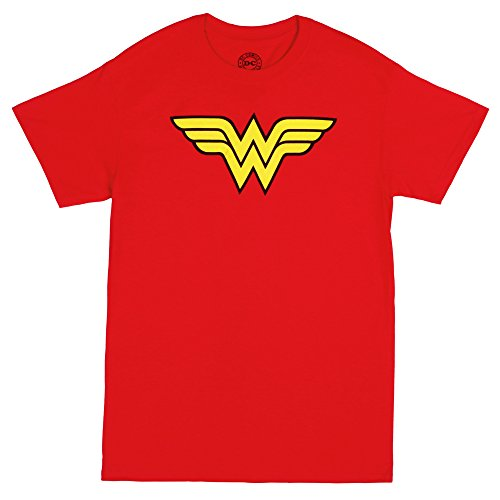 Trevco Men's Wonder Woman Logo T-Shirt, Red, X-Large