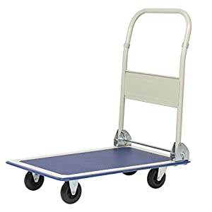 Best Choice Products 330lbs Platform Cart Folding Dolly Foldable Warehouse Moving Push Hand Truck