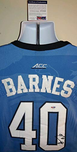 (Harrison Barnes North Carolina Tar Heels Autographed Signed Memorabilia Jordan Jersey - PSA/DNA Authentic)