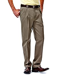 Men's Work-To-Weekend No-Iron Pleat-Front Pant with Hidden Expandable Waist