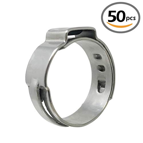 1 PEX GUY Stainless Steel Cinch Pinch Clamp Rings for PEX piping 1, 304 Stainless Steel (50 pcs)