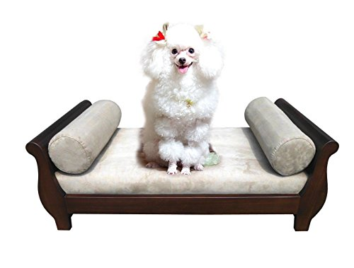 Sleigh Luxury Beds - D-ART COLLECTION Mahogany Sleigh Pet Bed