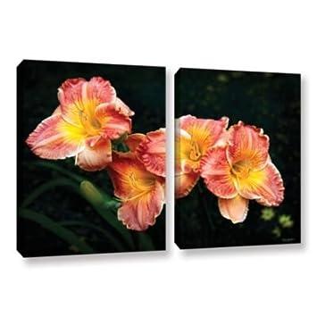 Antonio Raggios Fresh Flowers 2 Piece Gallery Wrapped Canvas Set 32X48