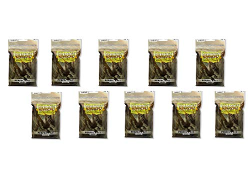 - 10 Packs Dragon Shield Perfect Fit Smoke Inner Sleeves Standard Size 100 ct
