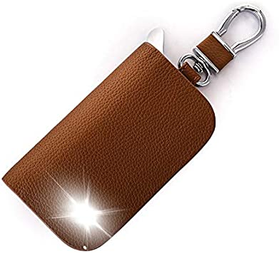 Fashion accessories brown leather key chain