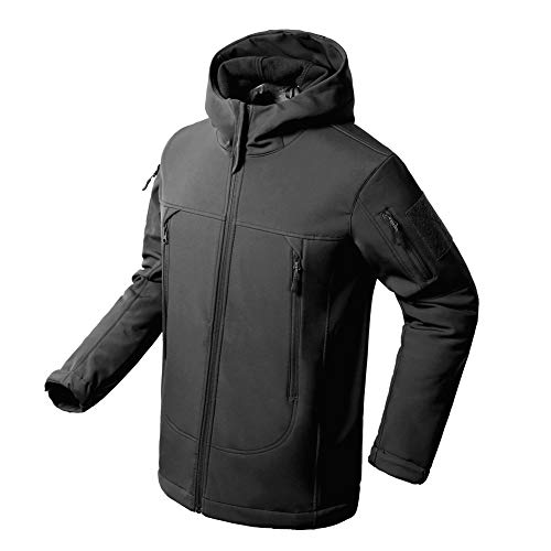 Windproof Water Repellent - Flying Eagle Tactical Jackets Softshell Fleece Lined Water Repellent Jackets Winter Windproof Coat for Men
