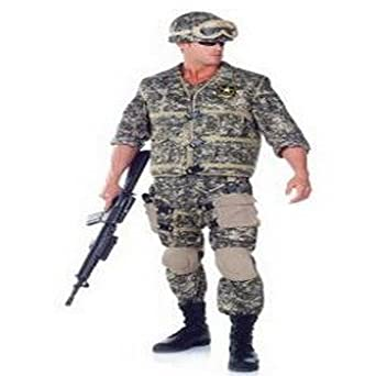 US Army Ranger Deluxe Adult Costume Size 1X-2X (48-50)  sc 1 st  Amazon.com & Amazon.com: US Army Ranger Deluxe Adult Costume Size 1X-2X (48-50 ...