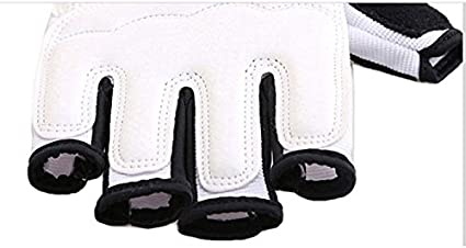 Baselay Taekwondo Gloves WTF Approved Muay Thai Sandbag Boxing Training Punching Bag Half Mitts Sparring Martial Arts Karate Fighting Half Finger Glove for Men Women Kids