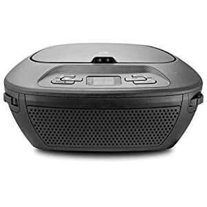 GPX Portable Bluetooth Boombox/CD Player, Requires 6 C Batteries - Not Included, Black (BCB117B)