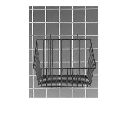 Count of 3 Black Mini-Grid Basket with 4'' Front 12''L x 12''W x 8''D by Mini-Grid Basket
