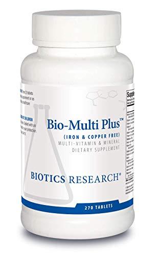 Biotics Research Bio-Multi Plus ™ (Iron & Copper Free) - Multivitamin, Chelated Minerals, Emulsified Fat-Soluble Vitamins, Iron Free, Copper Free, High antioxidants, SOD, Catalase 60 ct (270)