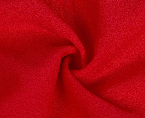Z Rouge Longues Soie Au Mousseline QIYUN En Blouses Manches L'paule Casual De Top Chemise De Sexy Large Femmes f8Uwd
