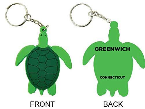 (Greenwich Connecticut Souvenir Green Turtle Keychain)