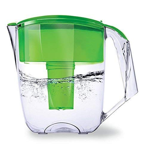Ecosoft 8 Cup Water Filter Pitcher w/ 1 Free Filter Cartridg