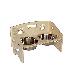 MPI WOOD Small Dog Bowl 66
