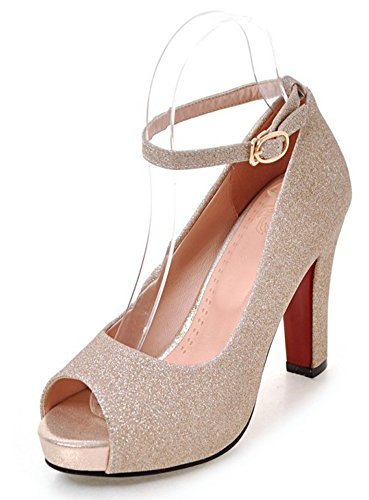 Sandales Aisun Pohq8fxx Sexy Femme Peep Toe Or Bal Paillettes 6w1Pa1ICxq