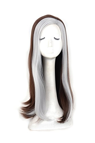 Yuehong Top Quality Mix Color long straight fashion Cosplay Wig for Women party ()
